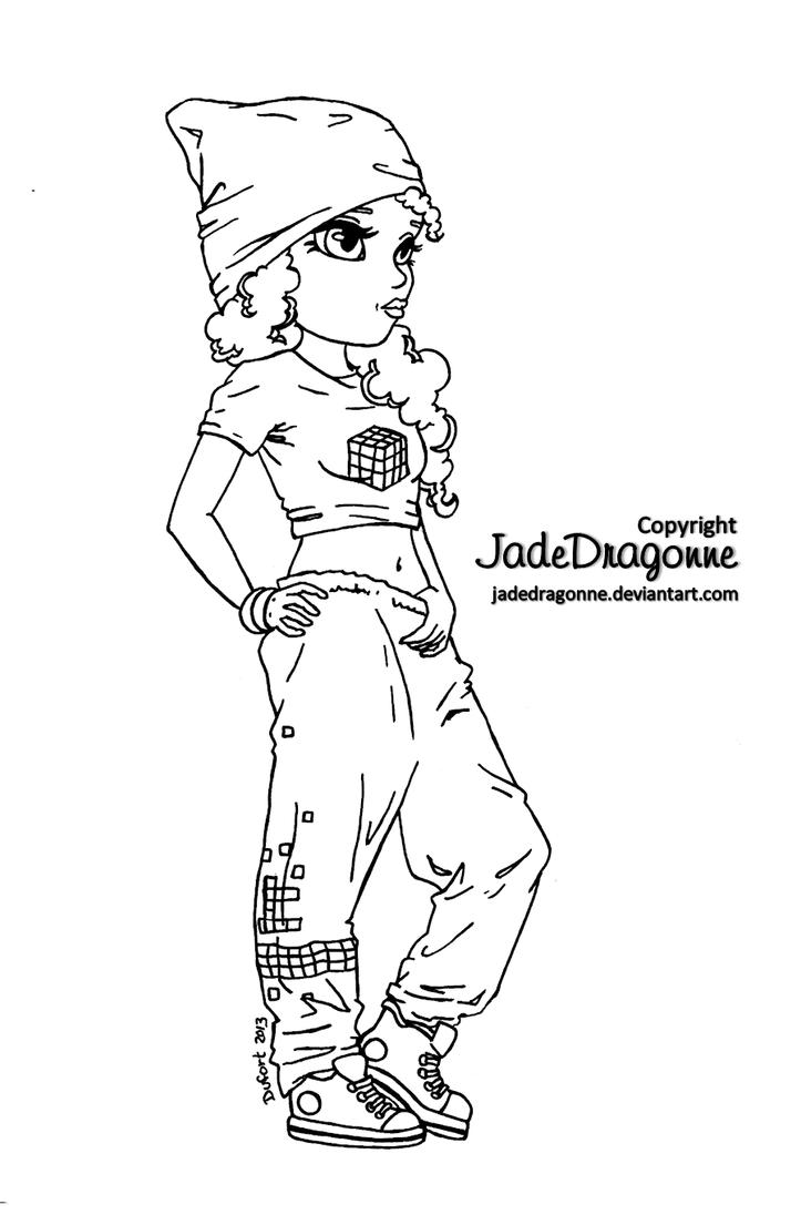 hip hop coloring pages hip hop dancer lineart by jadedragonne on deviantart