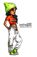 Hip Hop Dancer - Colored by JadeDragonne
