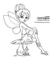 Tinkerbell - Lineart by JadeDragonne