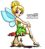 Tinkerbell - Colored by JadeDragonne