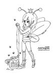 Queen Bee - Lineart
