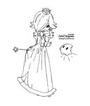 Princess Rosalina from Mario - Lineart