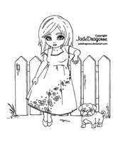 Picket Fences - Lineart by JadeDragonne