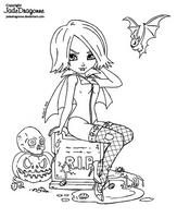 2013 Halloween - Lineart by JadeDragonne