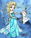 Elsa and Olaf - Colored