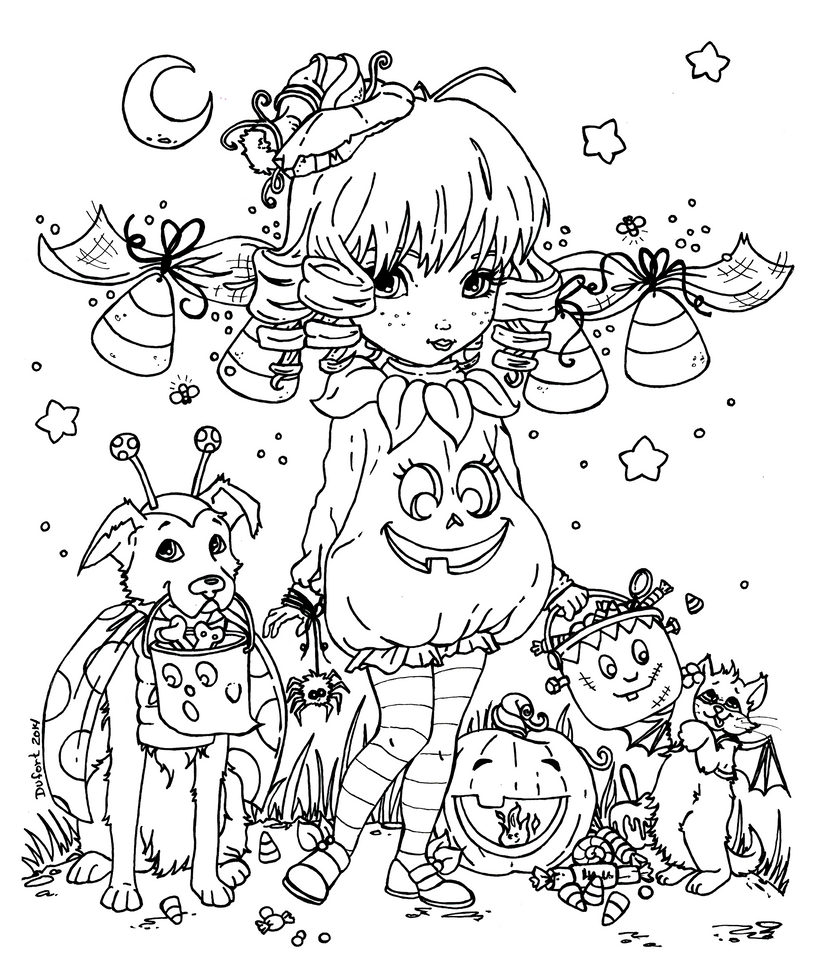 2014 halloween cutie pie by jadedragonne on deviantart for Coloring pages halloween adult