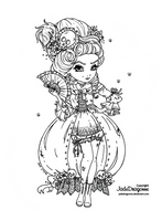Marie Antoinette's come back - Lineart by JadeDragonne
