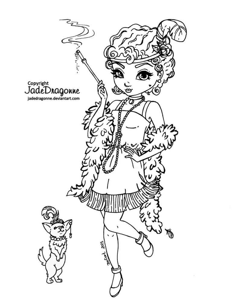 coloring pages 1920s - photo#21