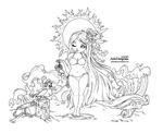 Summer Goddess -Lineart