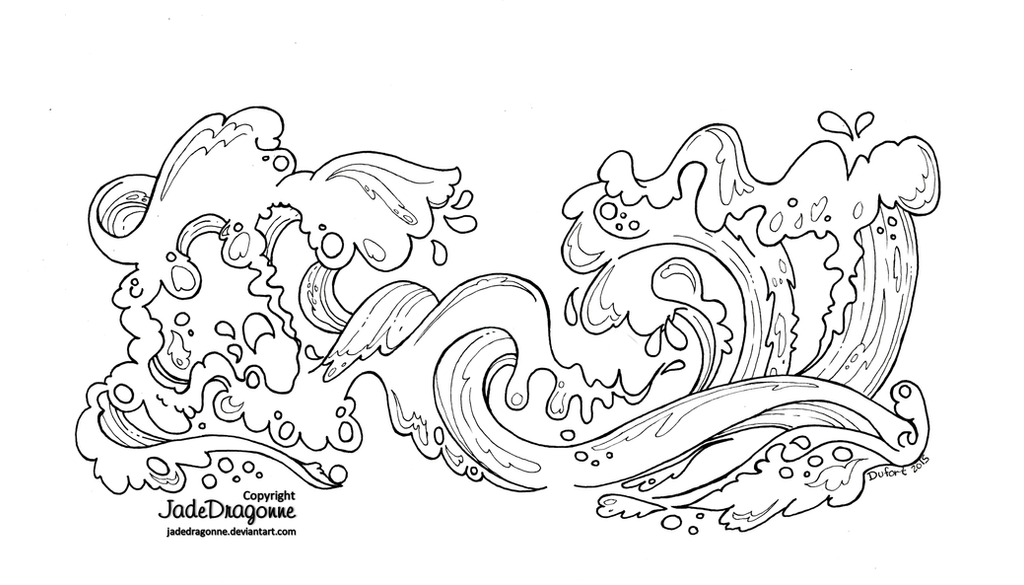 Line Art Waves : Waves by jadedragonne on deviantart