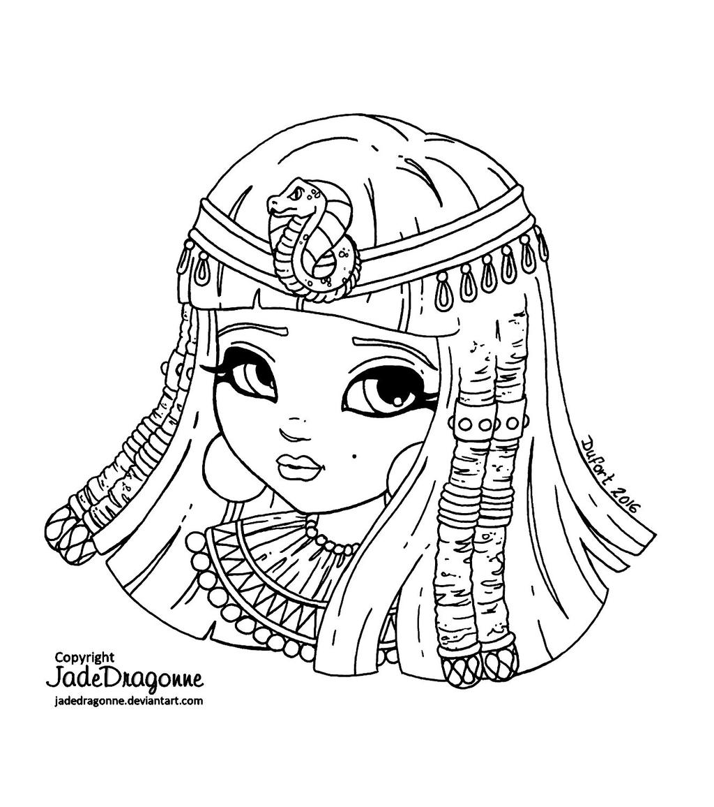 cleopatra egyptian coloring pages - photo#5