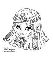 Cleopatra - Lineart by JadeDragonne