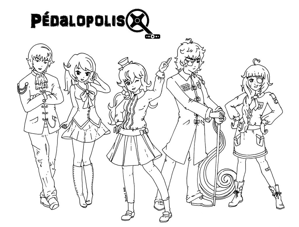 Pedalopolis - Lineart by JadeDragonne