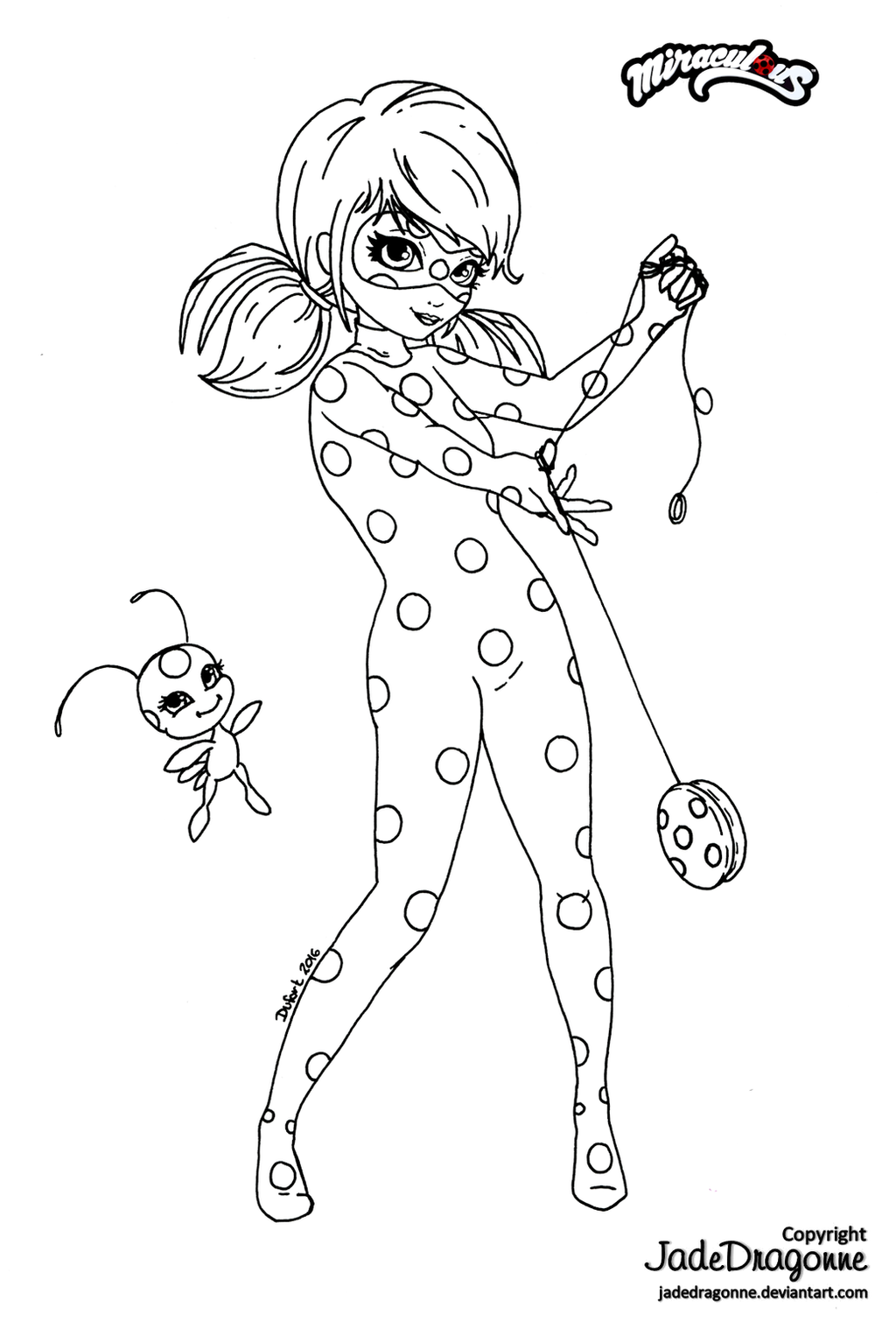 miraculous coloring pages   Miraculous Ladybug - Lineart by JadeDragonne on DeviantArt
