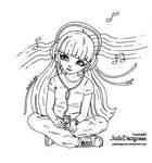 Earphones - Lineart