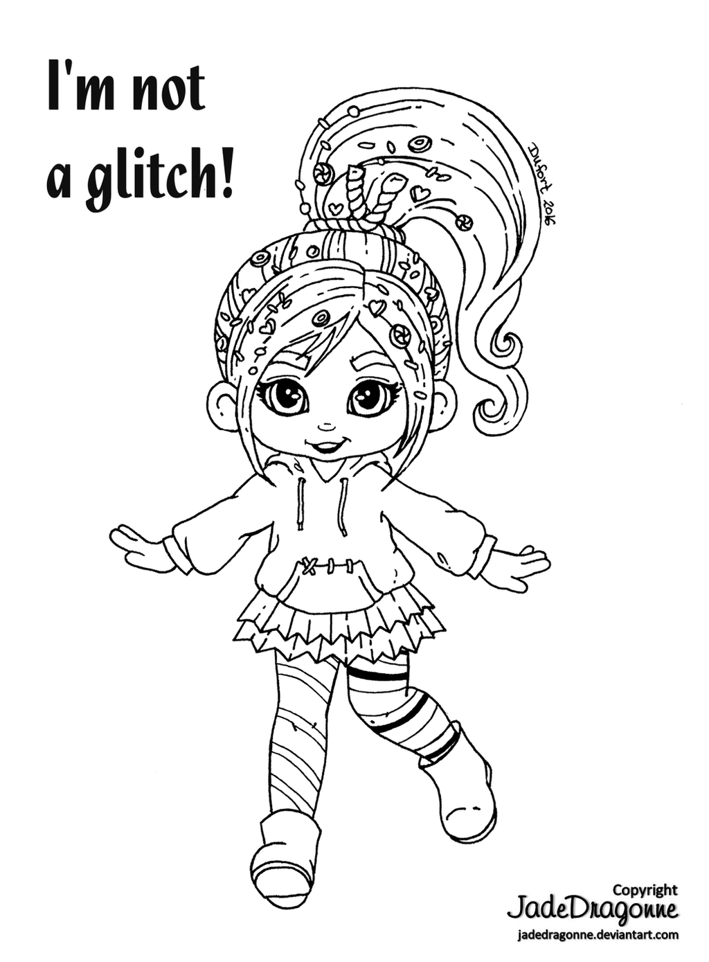 vanellope wreck it ralph coloring pages coloring pages