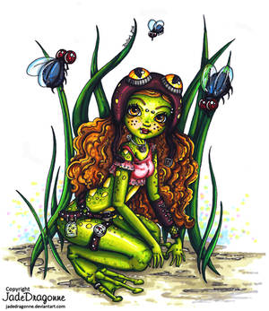 Steampunk frog fairy- Colored