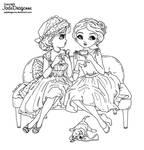 Tea and Gossips - Lineart