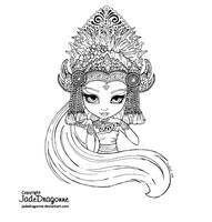 Bali - Lineart by JadeDragonne