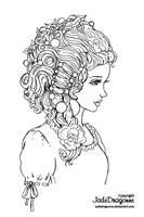 Rosie - Lineart by JadeDragonne