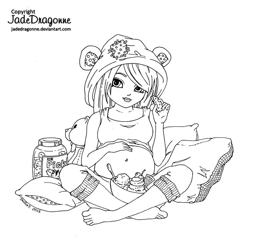 Pickles and Ice cream - Lineart by JadeDragonne