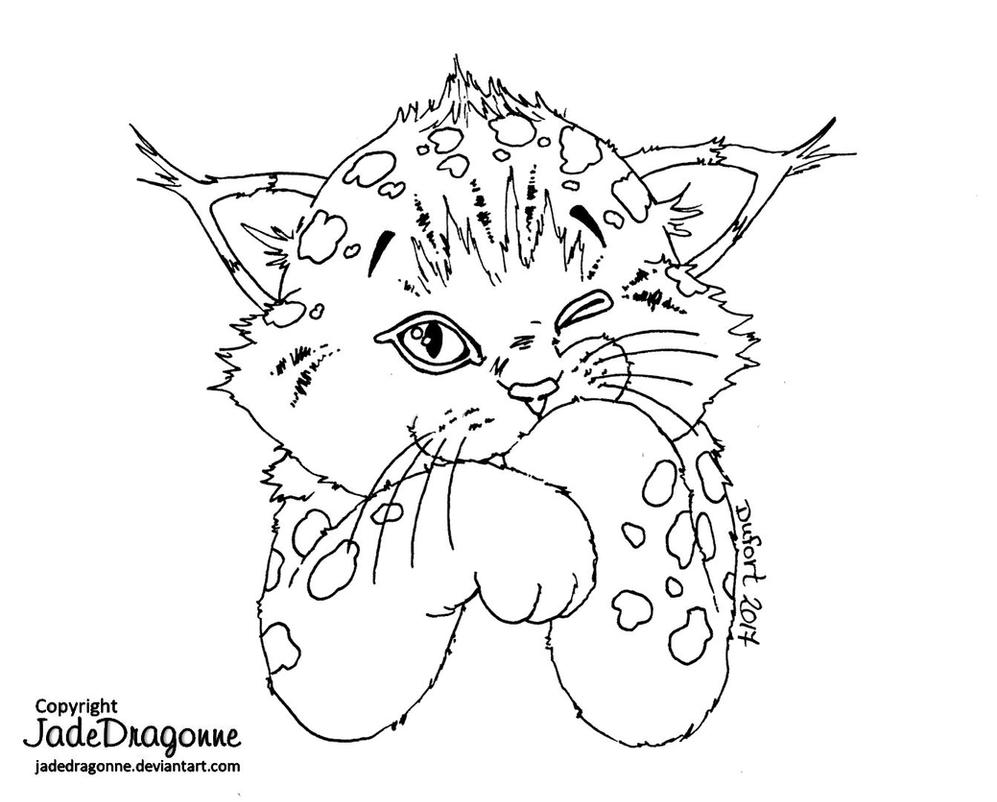 baby lynx coloring pages - photo#6