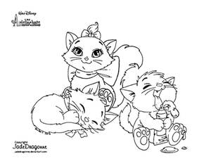 Les Aristochats - Lineart