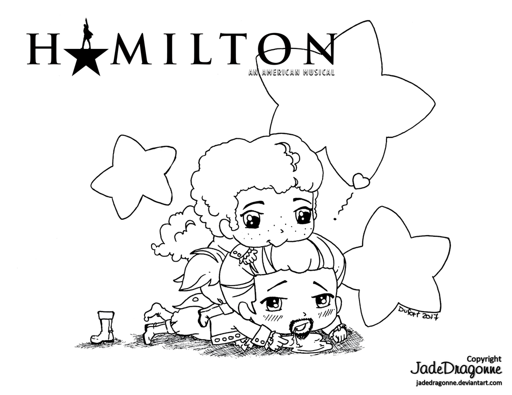 Hamilton and laurens lineart by jadedragonne on deviantart for Hamilton coloring pages
