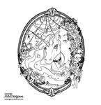 Gothic Unicorn - Lineart