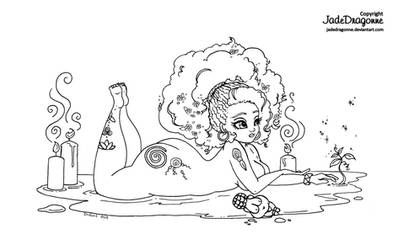 Fertility Goddess - Lineart
