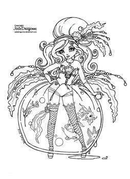 Ponyo colouring page (With images) | Studio ghibli tattoo, Ghibli ... | 350x254