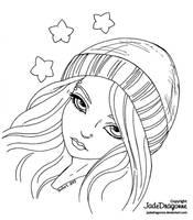 Winter Stars - Lineart by JadeDragonne