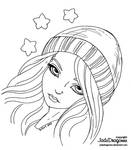 Winter Stars - Lineart