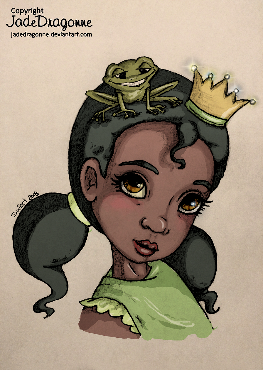 Young Tiana by JadeDragonne