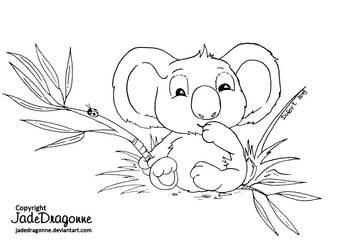 Koala by JadeDragonne