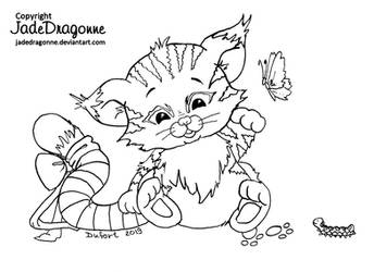 Wild cat by JadeDragonne