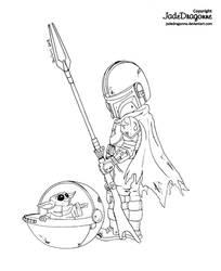 The Mandalorian - lineart