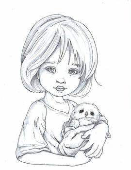 Baby Owl Sketch