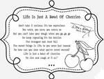 Bowl of cherries - text by JadeDragonne