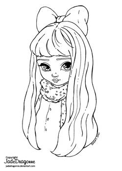 Pink Bow - Lineart