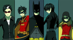 Bat and birds