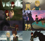 how to train your dragon 2D