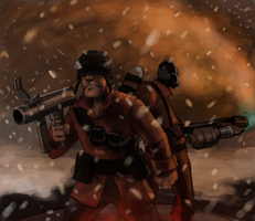 Soldier and Pyro