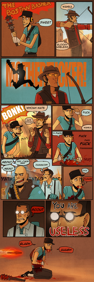 tf2 comic: the boston basher