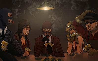 commission: tf2 poker night