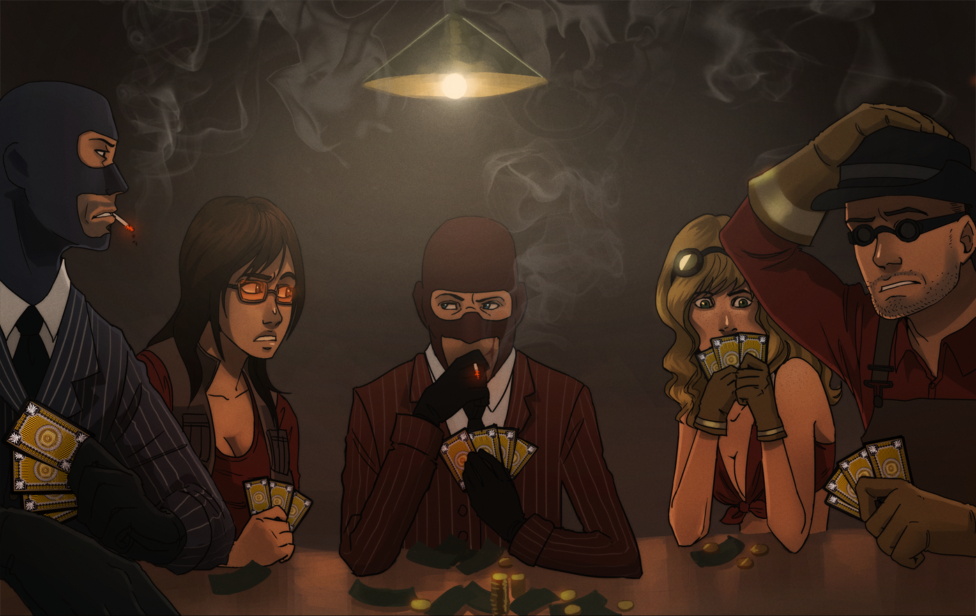 commission: tf2 poker night