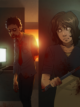 commission: white collar zombie redrawn