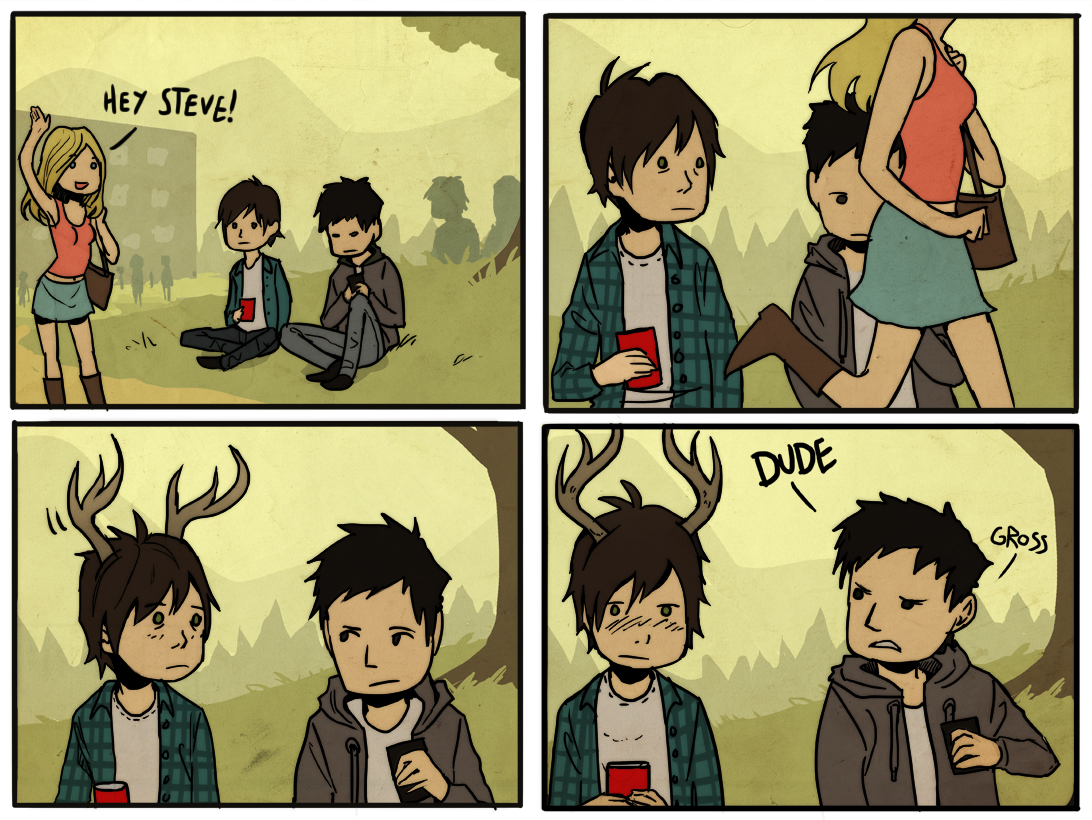 teen deer is now a comic by Detkef