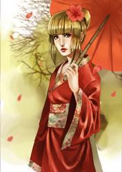 Commission: geisha by Detkef