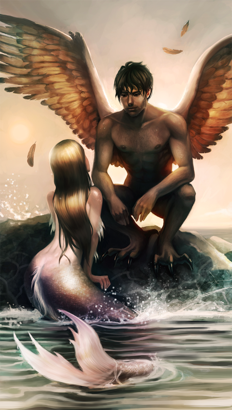 The mermaid and the angel by Detkef